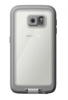 תמונה של כיסוי נגד מים לבן/אפור ל Galaxy S6