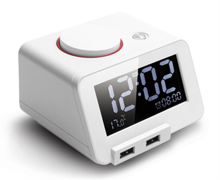 Picture of רמקול שעון מעורר Bluetooth לבן