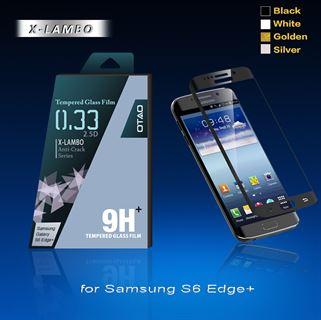 תמונה של מגן מסך זכוכית ל Galaxy S6 Edge Plus לבן