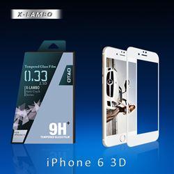 תמונה של מגן מסך זכוכית 3D לבן ל iPhone 6/6s