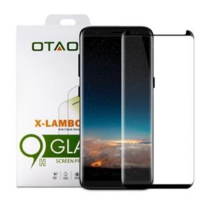 מגן מסך זכוכית 3D שחור ל  Galaxy S8 Plus