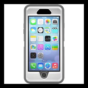 Defender אפור/לבן ל iPhone 6