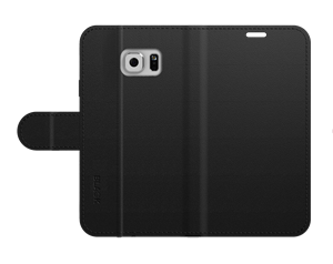 כיסוי ספר עור שחור ל Galaxy S6 Black