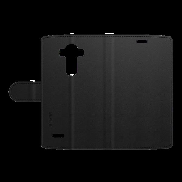 כיסוי ספר עור שחור ל LG G4