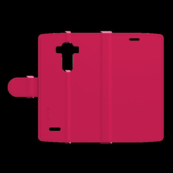 כיסוי ספר עור ורוד ל LG G4