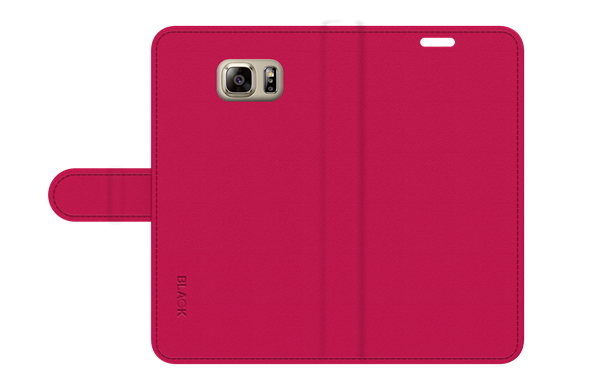 כיסוי ספר עור ורוד ל Galaxy Note 5