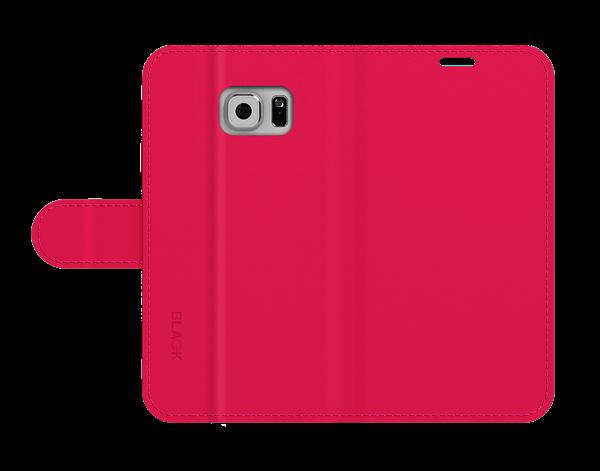 כיסוי ספר עור ורוד ל Galaxy S6 Edge Plus