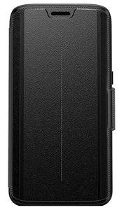 כיסוי ספר עור שחור ל Galaxy S7 Edge