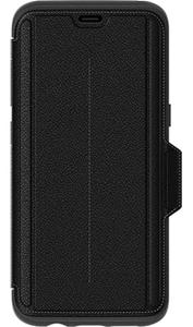 כיסוי ספר עור Strada שחור ל Galaxy S8
