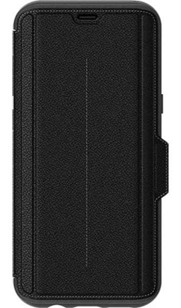 כיסוי ספר עור Strada שחור ל Galaxy S8 Plus