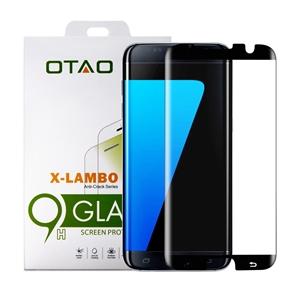 מגן מסך זכוכית 3D שחור ל Galaxy S7 Edge