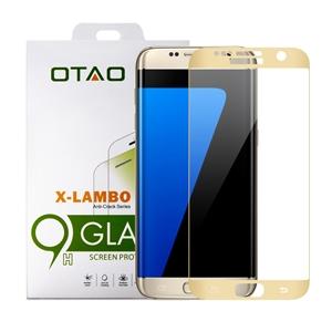מגן מסך זכוכית 3D זהב ל Galaxy S7