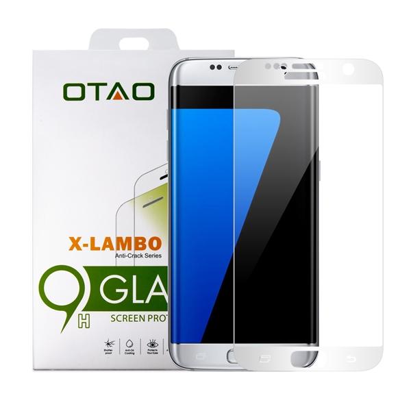 מגן מסך זכוכית 3D כסף ל Galaxy S7