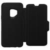 כיסוי ספר עור Strada שחור ל Galaxy S9