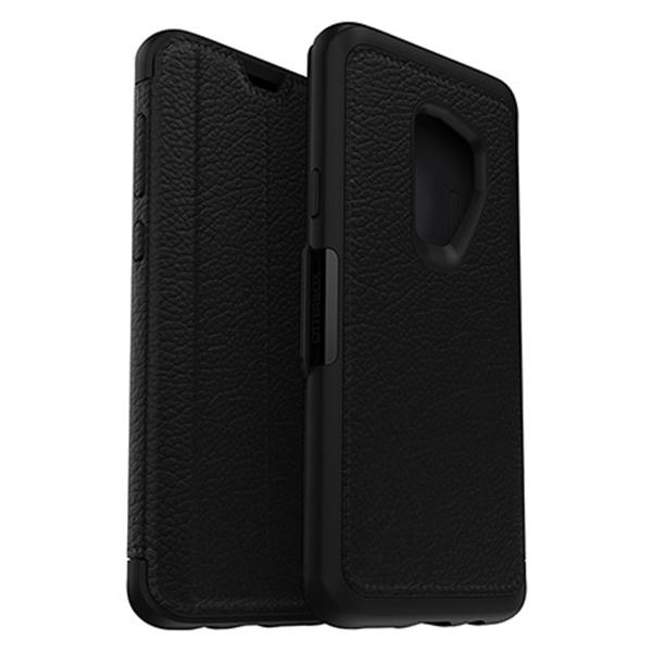 כיסוי ספר עור Strada שחור ל Galaxy S9  Plus