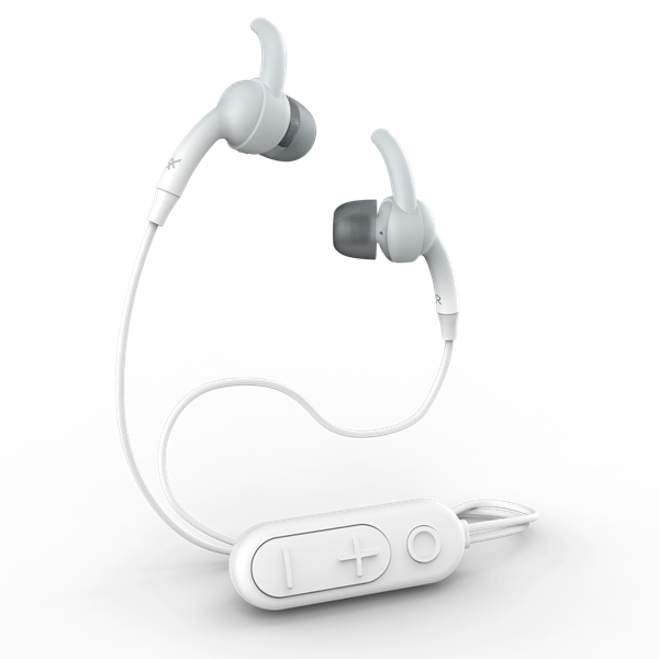 אזניות Earbud מבית iFrogz דגם Sound Hub Plugz אפור/לבן