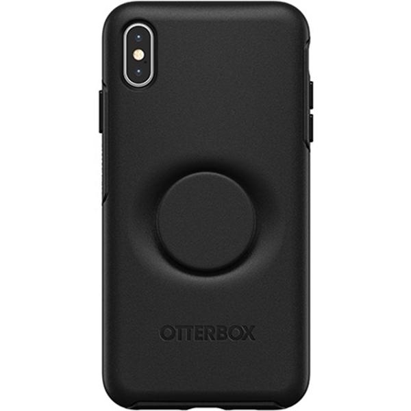 כיסוי  ל-iPhone XS Max מבית Otterbox & PopSocket דגם Symmetry (שחור)