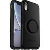כיסוי  ל iPhone XR מבית Otterbox & PopSocket דגם Symmetry שחור