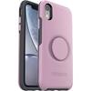 כיסוי  ל-iPhone XR מבית Otterbox & PopSocket דגם Symmetry (ורוד)