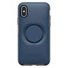 כיסוי OTTERBOX ל-iPhone X/XS דגם SYMMETRY + POPSOCKETS (כחול)
