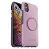 כיסוי OTTERBOX ל-iPhone X/XS דגם Symmetry + POPsockets (ורוד)