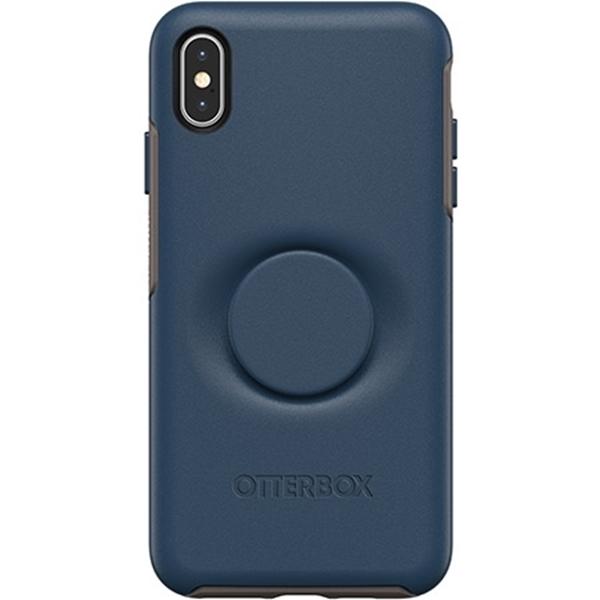 כיסוי  ל-iPhone XS Max מבית Otterbox & PopSocket דגם Symmetry (כחול)