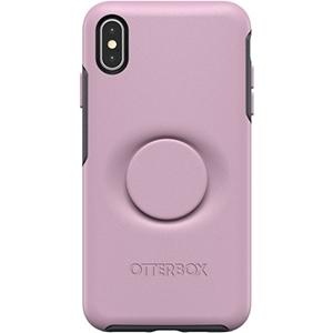 כיסוי  ל-iPhone XS Max מבית Otterbox & PopSocket דגם Symmetry (ורוד)