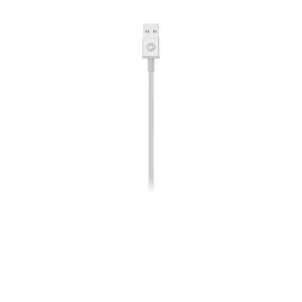 כבל Mophie סנכרון/טעינה USB ל- Lightning לבן 1m