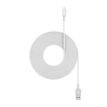 כבל Mophie סנכרון/טעינה USB ל- Lightning לבן 3m