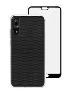 סט כיסוי שקוף ומגן מסך Skech ל-Huawei P20