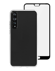 סט כיסוי שקוף ומגן מסך Skech ל-Huawei P20 Pro