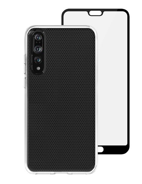 סט כיסוי שקוף ומגן מסך Skech ל-Huawei Mate 20