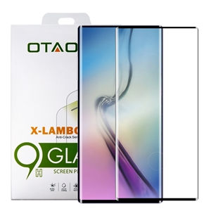 מגן זכוכית OTAO ל-SAMSUNG Note 10 Pro דגם 3D (שחור)