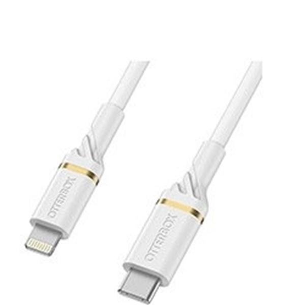 כבל סינכרון וטעינה otter דגם USB C-Ligh&PD 1m לבן