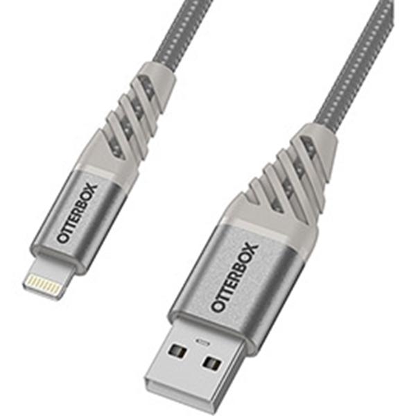 כבל  Otterbox Premium דגם USB A-Ligh 1m כסוף