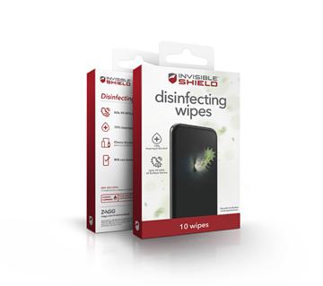 מארז 10 מגבוני ZAGGwipes אנטי בקטריאליים לטלפון