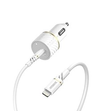 מטען רכב וכבל otter ד.USB C-USB-PD+C-Ligh 1m לבן