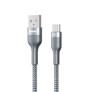 כבל REMAX טעינה USB-Type C אורך 1m כסוף