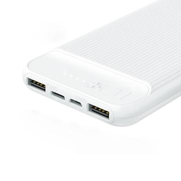 סוללת ניידת REMAX דגם USB & Type C לבן