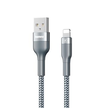 כבל טעינה REMAX  מקושח USB-Lightning  1m כסוף