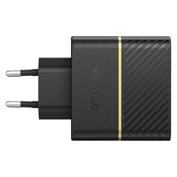 מטען בית מהיר שתי יציאות USB A 12W + USB C 18W- PD שחור