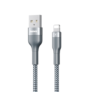 כבל REMAX טעינה USB-Lightning אורך 1m צבע כסוף