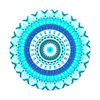 popsocket-דגם-pattern-blue-floral-mandala-2