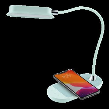 מנורת לד שולחנית Momax עם טעינה אלחוטית 10W לבן