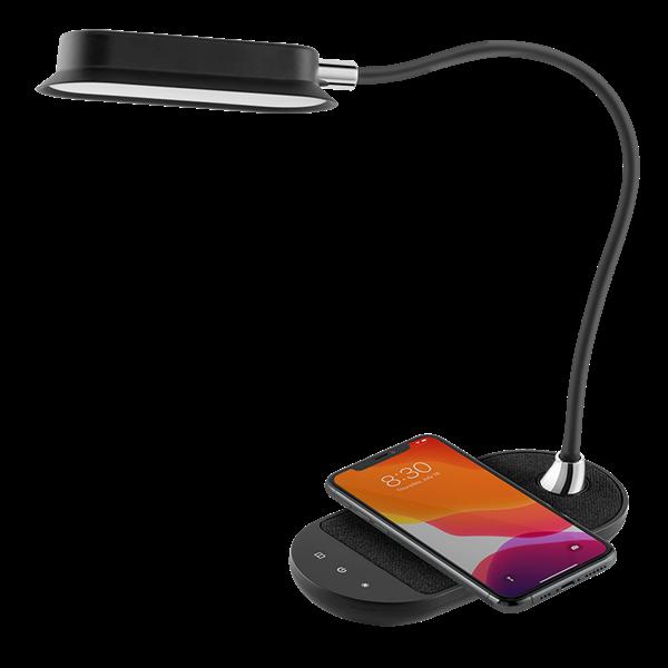מנורת לד שולחנית Momax עם טעינה אלחוטית 10W שחור