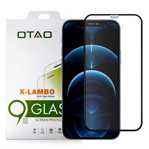 מגן זכוכית OTAO  iPhone 12 Pro Max דגם 2.5D שחור