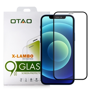מגן זכוכית OTAO  iPhone 12 Pro דגם 2.5D שחור
