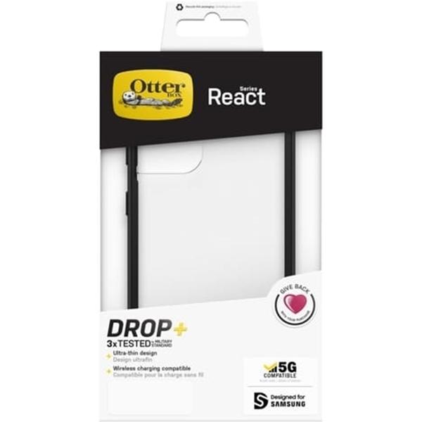כיסוי OTTERBOX ל S21 ULTRA  דגם REACT שקוף/שחור