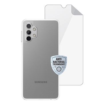 סט כיסוי ומגן מסך Galaxy A32 דגם MATRIX שקוף
