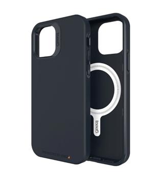 כיסוי ל IPHONE12 PRO MAX דגם MAGSAFE CRYSTAL PALACE שחור מבית Gear 4